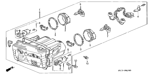 1997 NSX 2 DOOR 6MT HEADLIGHT diagram
