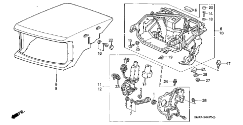 1991 NSX 2 DOOR 5MT RETRACTABLE HEADLIGHT diagram