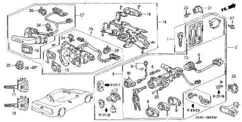 1999 NSX-T 2 DOOR 4AT COMBINATION SWITCH (3) diagram