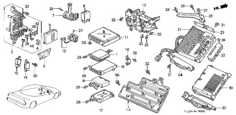 1994 NSX 2 DOOR 4AT CONTROL UNIT (2) diagram