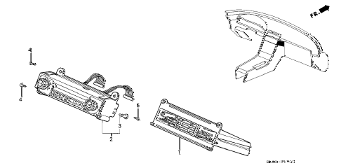 1994 NSX 2 DOOR 5MT HEATER CONTROL diagram