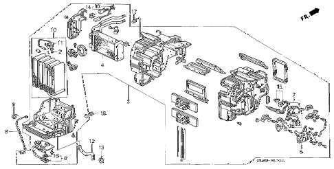 2000 NSX-T 2 DOOR 6MT HEATER UNIT diagram