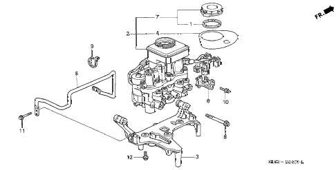 1996 NSX-T 2 DOOR 5MT A.L.B. MODULATOR diagram