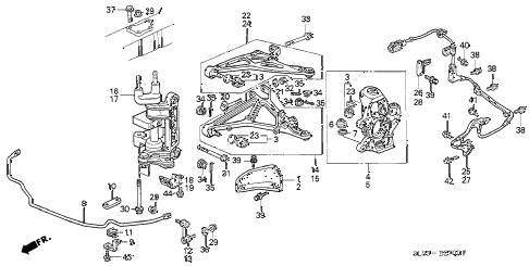 1996 NSX 2 DOOR 5MT KNUCKLE diagram