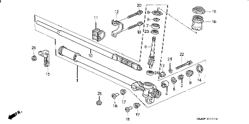 1993 NSX 2 DOOR 5MT STEERING GEAR BOX diagram