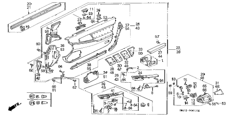 1992 NSX 2 DOOR 5MT FRONT DOOR LINING diagram