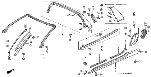 2000 NSX-T 2 DOOR 4AT MOLDING (2) diagram