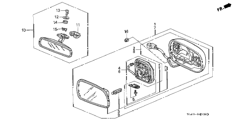 1998 NSX-T 2 DOOR 6MT MIRRORS diagram