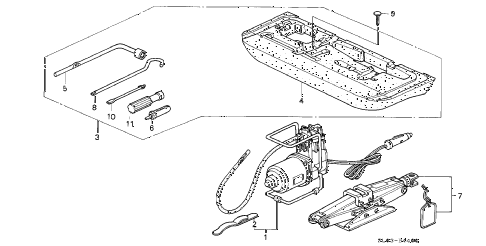 1998 NSX 2 DOOR 4AT TOOL - JACK diagram