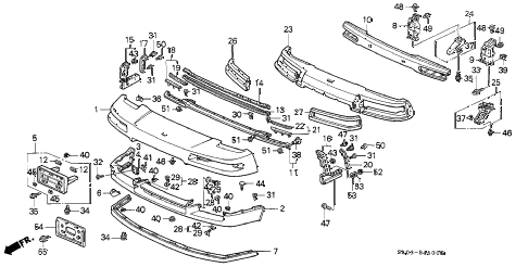 2000 NSX-T 2 DOOR 6MT FRONT BUMPER diagram