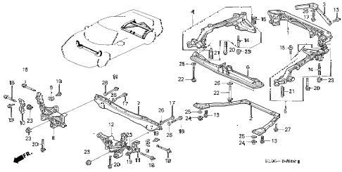 1997 NSX-T 2 DOOR 6MT CROSS BEAM diagram