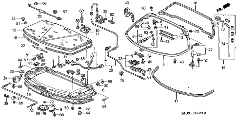 1995 NSX-T 2 DOOR 4AT REAR HATCH (2) diagram