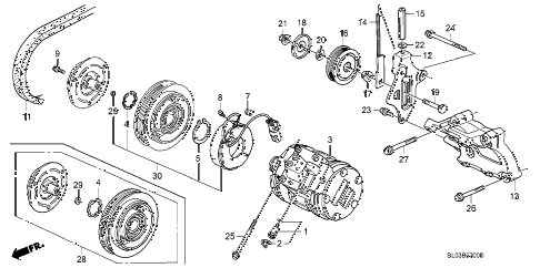 1992 NSX 2 DOOR 4AT A/C COMPRESSOR (1) diagram