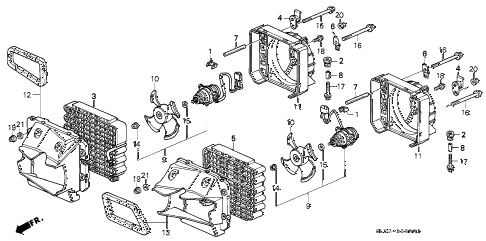 1994 NSX 2 DOOR 5MT A/C AIR CONDITIONER (CONDENSER) diagram