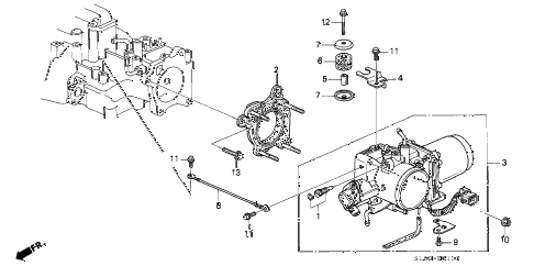 2000 NSX 2 DOOR 4AT THROTTLE BODY (2) diagram