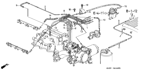 1996 NSX-T 2 DOOR 5MT INSTALL PIPE - TUBING (2) diagram