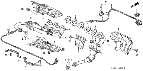 1998 NSX 2 DOOR 6MT EXHAUST MANIFOLD (2) diagram