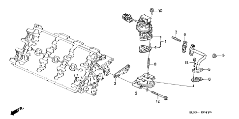 1995 NSX 2 DOOR 5MT EGR VALVE diagram