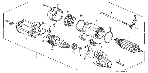 1992 NSX 2 DOOR 4AT STARTER MOTOR (1) diagram