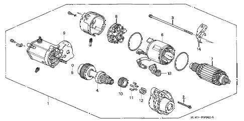 1995 NSX 2 DOOR 5MT STARTER MOTOR (2) diagram