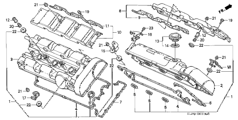 1995 NSX-T 2 DOOR 5MT CYLINDER HEAD COVER diagram