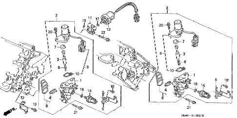 1995 NSX-T 2 DOOR 5MT SPOOL VALVE diagram