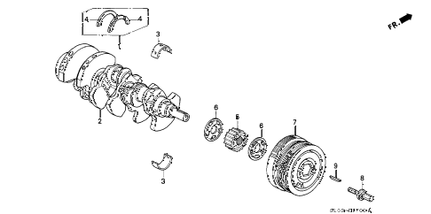 1999 NSX 2 DOOR 4AT CRANKSHAFT - PULLEY diagram