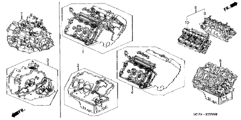 2000 NSX 2 DOOR 6MT GASKET KIT - ENGINE ASSY.  - TRANSMISSION ASSY. diagram