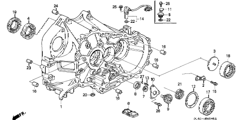 1994 NSX 2 DOOR 5MT 5MT CLUTCH HOUSING diagram