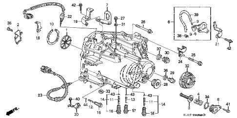 1995 NSX-T 2 DOOR 5MT 5MT TRANSMISSION HOUSING (5MT) diagram