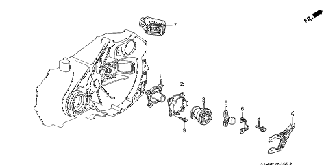 1993 NSX 2 DOOR 5MT 5MT CLUTCH RELEASE diagram