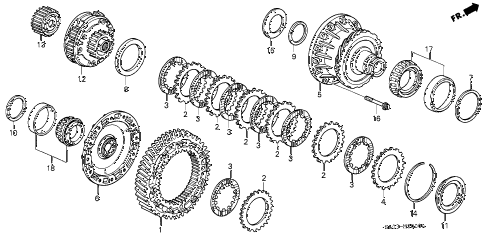 1992 NSX 2 DOOR 5MT 5MT DIFFERENTIAL GEAR (5MT) (1) diagram