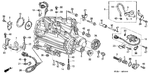 1997 NSX-T 2 DOOR 6MT 6MT TRANSMISSION HOUSING (6MT) diagram