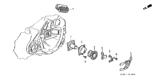 1997 NSX 2 DOOR 6MT 6MT CLUTCH RELEASE diagram