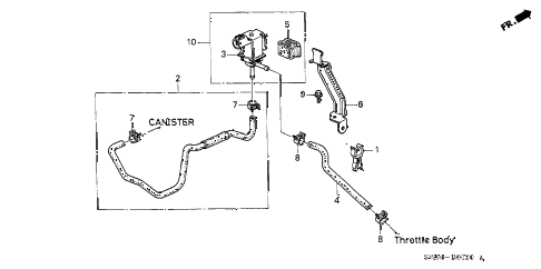 1997 NSX-T 2 DOOR 4AT PURGE CONTROL SOLENOID VALVE diagram