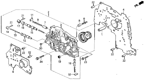 1993 VIGOR LS 4 DOOR 4AT AT OIL PUMP BODY diagram