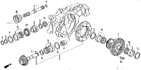 1994 VIGOR LS 4 DOOR 4AT AT DIFFERENTIAL GEAR diagram