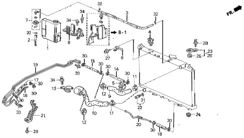 1994 VIGOR GS 4 DOOR 5MT RADIATOR HOSE diagram