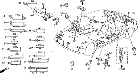 1993 VIGOR GS 4 DOOR 4AT WIRE HARNESS diagram