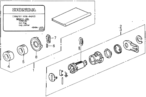 1994 VIGOR LS 4 DOOR 4AT KEY CYLINDER KIT diagram