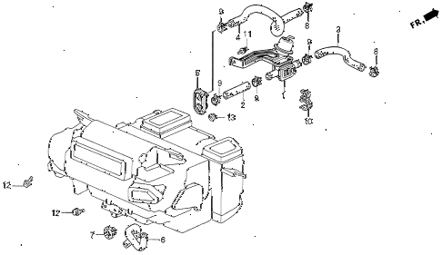 1994 VIGOR GS 4 DOOR 5MT WATER VALVE diagram