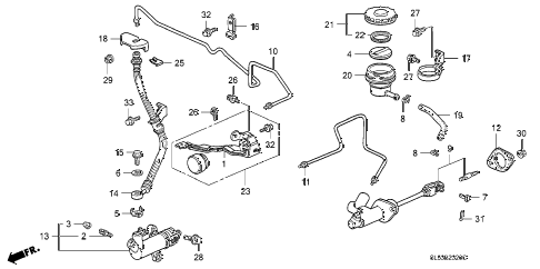 1993 VIGOR GS 4 DOOR 5MT CLUTCH MASTER CYLINDER diagram