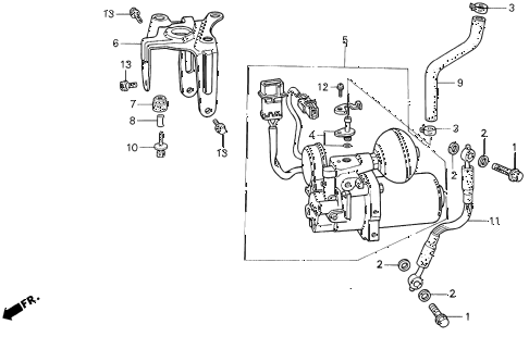 1994 VIGOR LS 4 DOOR 5MT ABS PUMP diagram
