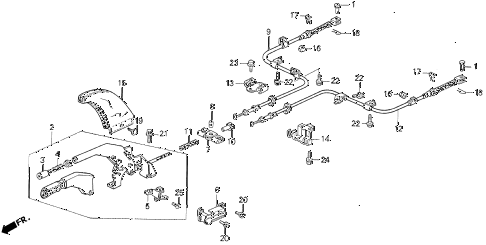 1993 VIGOR GS 4 DOOR 5MT PARKING BRAKE diagram