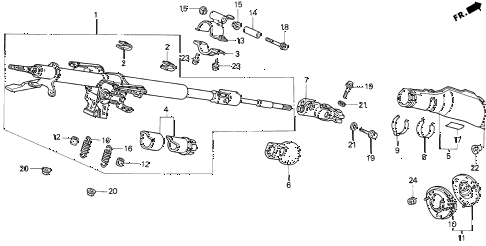 1994 VIGOR LS 4 DOOR 5MT STEERING COLUMN diagram