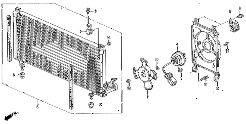 1992 VIGOR LS 4 DOOR 4AT A/C AIR CONDITIONER (CONDENSER) diagram