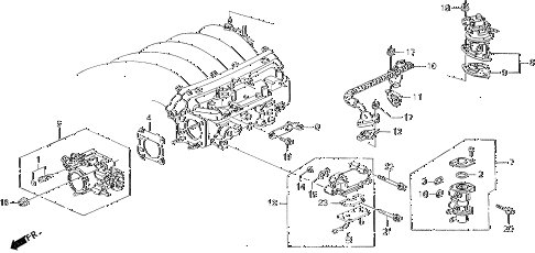 1994 VIGOR LS 4 DOOR 5MT THROTTLE BODY diagram