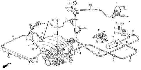 1993 VIGOR LS 4 DOOR 5MT INSTALL PIPE - TUBING diagram