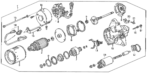 1993 VIGOR LS 4 DOOR 4AT AT STARTER MOTOR (MITSUBA) diagram
