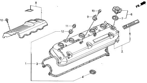 1993 VIGOR LS 4 DOOR 5MT CYLINDER HEAD COVER diagram